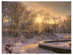 Winter Sunrise, Poland