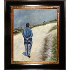 Gustave Caillebotte Homme Portant Une Blouse Hand Painted Framed Art