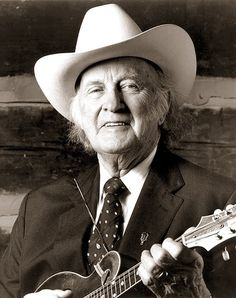 """[MUSIC: Bluegrass] Bill Monroe - The Father of Bluegrass. """"I'm a farmer with a mandolin and a high tenor voice. Country Music Artists, Country Music Stars, Country Singers, I Love Music, Music Is Life, Bill Monroe, Mountain Music, Bluegrass Music, Mandolin"""
