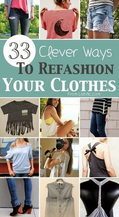 Craft Project Ideas: 33 Clever Ways To Refashion Clothes