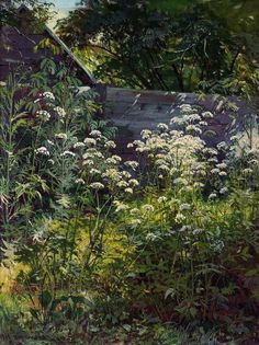 Ivan Shishkin Corner of overgrown garden. Goutweed-grass -