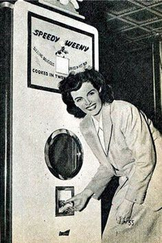 I'll see your EVVA and raise you a SPEEDY WEENY - bestest vending machine of all time (1947)