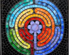 Custom Mosaic pieces and functional art and interactive children's books by Brenda Pokorny - Beautiful! Mirror Mosaic, Mosaic Wall Art, Mosaic Glass, Glass Art, Sea Glass, Mosaic Artwork, Mosaic Crafts, Mosaic Projects, Tile Crafts