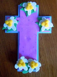 craft foam Easter cross