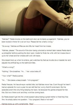 Katniss and Peeta.... I want to know who wrote this...... Who ever it is made me cry....