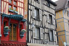 Beautiful windows in Troyes, France