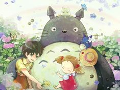 anime, manga, and totoro Bild Hayao Miyazaki, Film Animation Japonais, Animation Film, Studio Ghibli Art, Studio Ghibli Movies, Film Anime, Anime Art, Totoro Merchandise, Images Kawaii