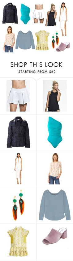 """""""Most Powerful"""" by donna-wang1 ❤ liked on Polyvore featuring Sweaty Betty, Burberry, Brigitte, Misha Collection, Rebecca Taylor, Gas Bijoux, Joie, Erdem and Jeffrey Campbell"""
