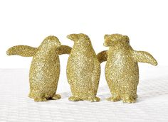 Hey, I found this really awesome Etsy listing at https://www.etsy.com/listing/85759865/glitter-penguins-metallic-gold-home