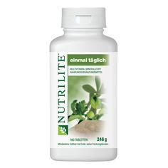 Bestellnummer: 5718 NUTRILITE™ Einmal Täglich Großpackung.  NUTRILITE Einmal Täglich enthält essentielle Vitamine und Mineralstoffe für eine ausgeglichene Ernährung.  NUTRILITE Einmal Täglich bietet eine breite Abdeckung des Nährstoffbedarfs und ein Gleichgewicht von essentiellen Vitaminen und Mineralstoffen, zusammen mit Pflanzeninhaltsstoffen aus den exklusiven NUTRILITE Pflanzenkonzentraten.