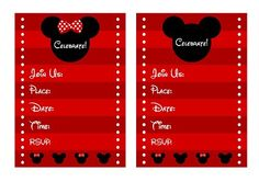 Free Mickey and Minnie Mouse Party Printables #mickeyminniemouse #freeprintables #invitation