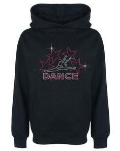 Dance and Stars Rhinestone / Diamante Embellished Children's Hoodie Great Gift #GuildenFDMFruitOfTheLoomorequivalent #Hoodie
