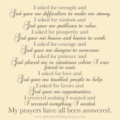 ....and Spiritually Speaking: Prayer