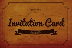Wedding Invitation Cards Bundle by Graphic Boutique on @creativemarket