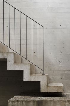 Casa BC / 3ARCH Mexico City stairs concrete