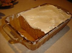 Pumpkin Angel food cake (18 ounce) package angel food cake mix (the 1 step mix), 1 (15 ounce) can pumpkin, 1 teaspoon pumpkin spice, 1 cup water, & 1 (8 ounce) container Cool Whip, thawed