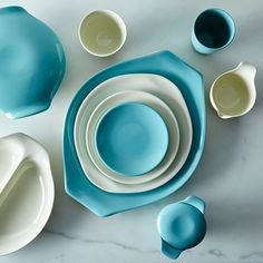 Russel Wright Melamine Dinnerware & Serveware on Modern Serveware, Russel Wright, Melamine Dinnerware, American Modern, Kitchen Items, Kitchen Goods, Cooking Gadgets, Museum Of Modern Art, Made In America