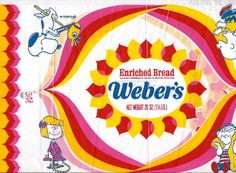 Vintage Peanuts Weber's Bread Wrapper | Flickr - Photo Sharing!