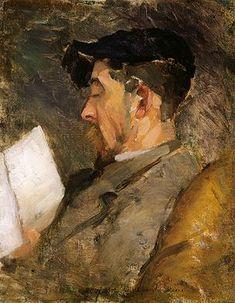 Theodore Robinson, Self-Portrait, c. 1884-1887