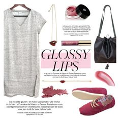 """""""Ultra Glossy Lips"""" by kreateurs ❤ liked on Polyvore featuring beauty, Ultra Tee, Edward Bess, tarte, Yves Saint Laurent, Baiser, contestentry, kreateurs and glossylips"""
