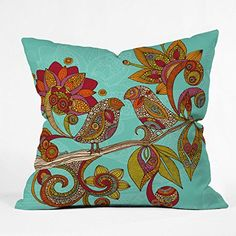 DENY Designs Valentina Ramos Hello Birds Throw Pillow 16 x 16
