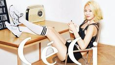 Hyoyeon is 'home alone' in 'CeCi' pictorial | http://www.allkpop.com/article/2015/08/hyoyeon-is-home-alone-in-ceci-pictorial