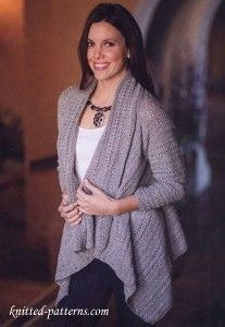 Silver Swing Jacket | free crochet pattern (yes, crochet, even though it says knitted-patterns)