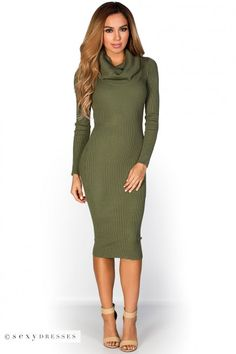 181fd54127b95 53 Best Sexy Sweater Dresses images in 2018 | Knit dress, Sweater ...