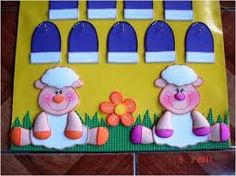 Resultado de imagen para calendario para niños de preescolar en goma eva