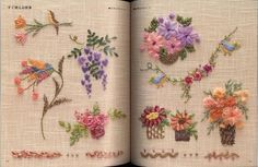 Silk Ribbon Embroidery Instructions | Ribbon Stitches Embroidery - Japanese Craft Book