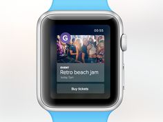 Concept for GateMe's new iOS8 app. Buy tickets with your watch. Everything works seamless with Apple Pay.  Full pixels: https://dribbble.com/shots/1719777-GateMe-Apple-watch-concept/attachments/275...