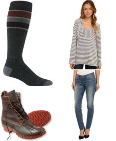 Soft Joie tunic top / True Religion jeans / Wigwam socks / LL Bean duck boots