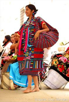 Antiguo México: #Belleza #Mexicana #Chinantecos, en San Juan Bautista, #Tuxtepec, #Oaxaca, #México.