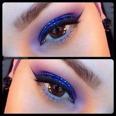Blue Sparkle by KingofPrussia in Motives Glitter Pots(Vivid Blue)!   #Blue #Eyes #Color