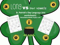 Long vs Short Vowels St. Patricks Day Worksheets product from Atorr87 on TeachersNotebook.com