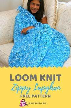 Zippy Lapghan Blanket for the Zippy Loom Always aspired to be able to knit, but undecided how to start? That Utter Beginner Knitting S. Loom Knitting Blanket, Loom Blanket, Afghan Loom, Round Loom Knitting, Loom Knitting Stitches, Knifty Knitter, Loom Knitting Projects, Knitted Afghans, Knitted Blankets