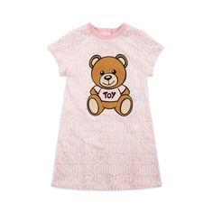 b9b7f92fdcb4 Baby Girls Teddy Bear Dress - Pink by Moschino