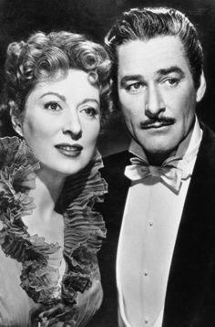 "Greer Garson & Errol Flynn in ""That Forsyte Woman"", 1949"