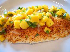Body for Life Mango Salsa Tilapia Nutrition Facts: 230 calories 5 g fat (0 sat) 29 g protein 24 g carbs 3 g fiber EmilyAlvers