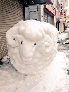 "tanuki-kimono: "" Happy snowy year of the sheep! """
