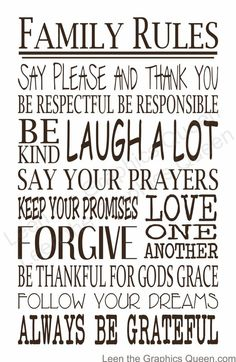 Quotes to add to homemade family rules (see other pin)