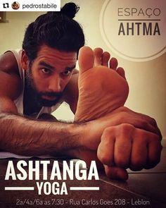 Dica para quem mora no Leblon e arredores: amanhã segunda-feira dia 3 o Pedro @pedrostabile (amor da minha vida ) começa a dar aulas de Ashtanga Yoga no Espaço Ahtma.  Até o dia 15 de julho as aulas estão liberadas.  Mais informações no post dele  #Repost @pedrostabile  Amigos vou começar a dar aulas de Ashtanga Yoga nesta segunda-feira dia 3 as 7:30 no recém-inaugurado Espaço AHTMA da @ahlma.cc  As aulas serão seg/qua/sex as 7:30 e nas primeiras duas semanas de julho estarão liberadas para…