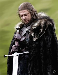 Game of Thrones - Eddard 'Ned' Stark. Game of Thrones - Eddard 'Ned' Stark Game Of Thrones Poster, Got Game Of Thrones, Game Of Thrones Quotes, Game Of Thrones Funny, Ned Stark, Got Characters, Marvel Characters, Brown Hair And Grey Eyes, Lord Eddard Stark