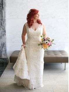 Plus Size Wedding Dresses 2016 Layers Of Lace Mermaid Wedding Gowns V Neckline Deep V Back Semi Cathedral Train Bridal Gowns Big Ball Gown Wedding Dresses Bridal Wedding Dress From Gonewithwind, $170.86| Dhgate.Com