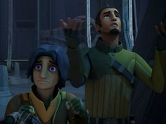 """""""It's like a rainbow """"<< look at Ezra's face. I love this scene and every scene where Kanan tries to act like a civilian it's just hilarious."""