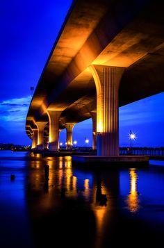Downtown Stuart Bridge   Stuart   Florida   Photo By C Rankin