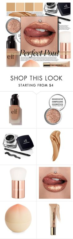 """You're the sugar rush to my sweet tooth!"" by isabeldizova ❤ liked on Polyvore featuring beauty, e.l.f., Obsessive Compulsive Cosmetics, Lancôme, Tony Moly, tarte, Beauty, metallic and metalliclipstick"