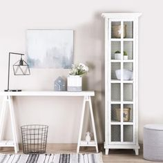 Fiord vitrina individual Boho Deco, Boho Chic, White Wood, Chalk Paint, Dorm, Bookcase, Entryway, Shelves, Furniture