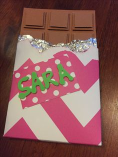 Chocolatebar card