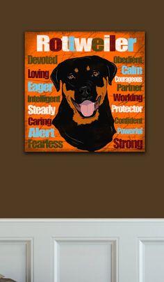 Rottweiler Art Canvas Love this so much!